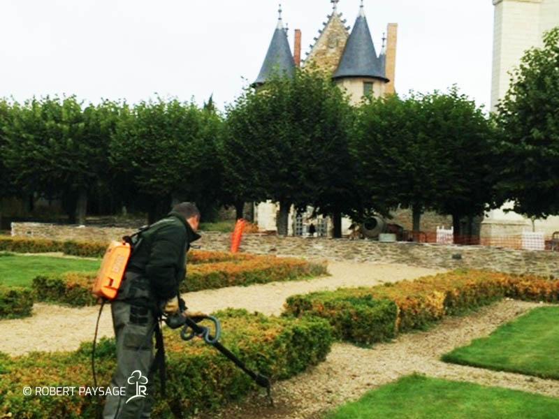 Chateau d'Angers jardins à la francaise