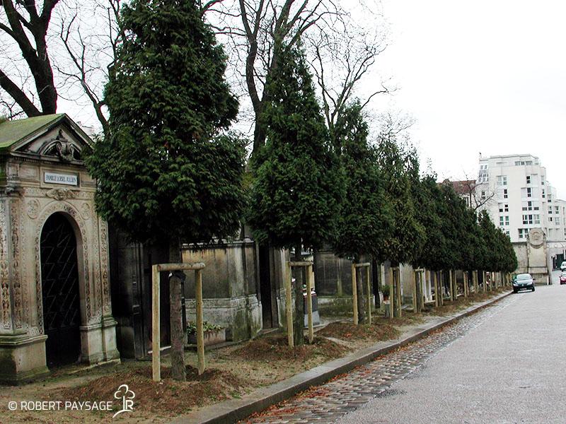 Nettoyage allées et routes cimetièrs parisiens