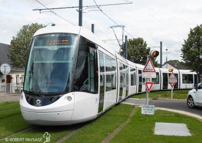Tramway de Rouen, rénovation en voie verte