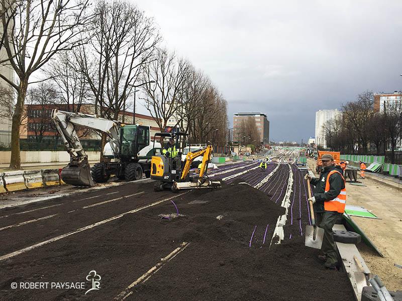 Vegetalisation du tramway Paris