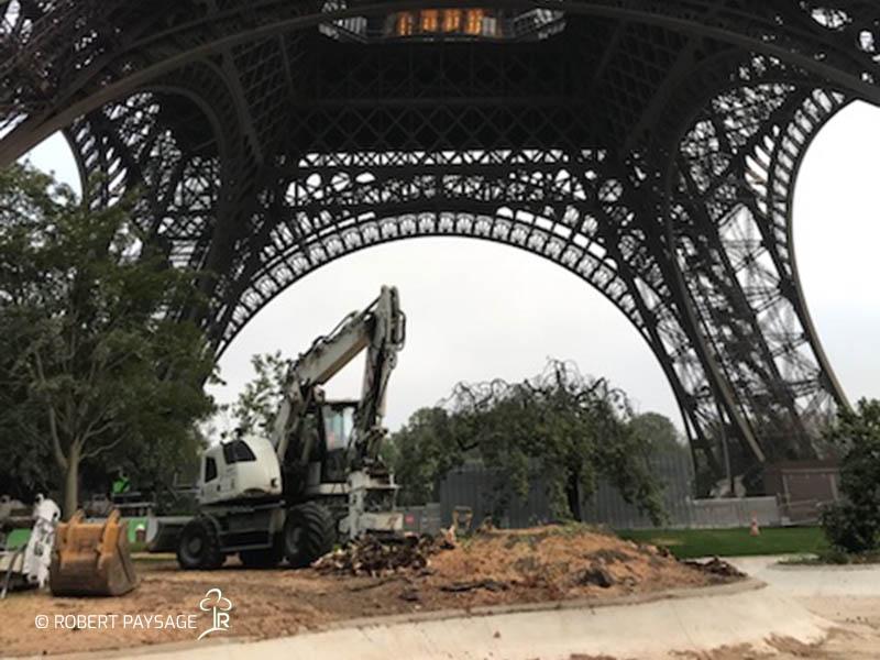 Paris fouilles plantations 4